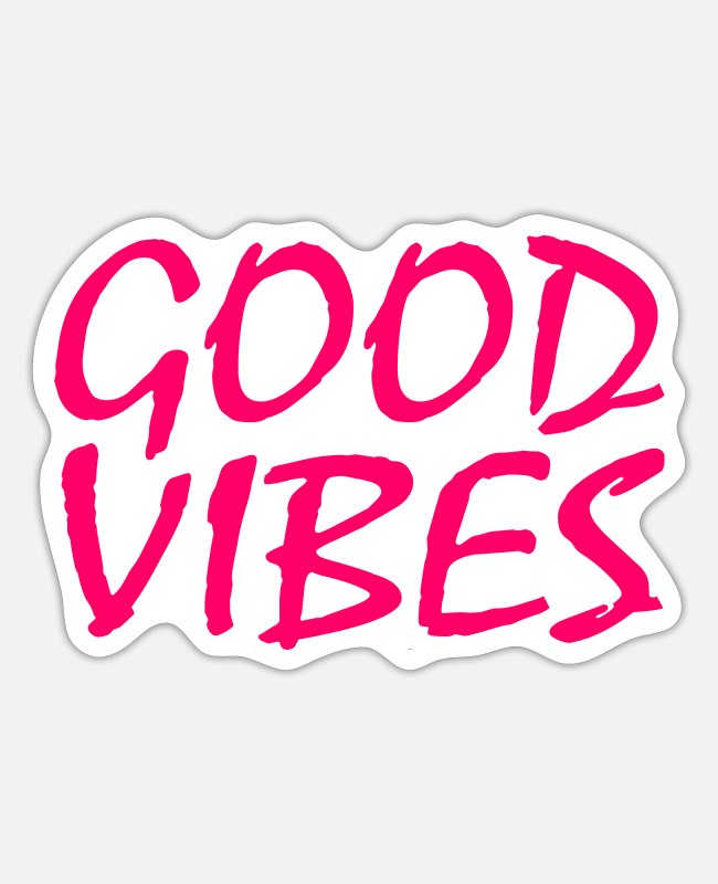 Queer Stickers - GOOD VIBES - Sticker white matte