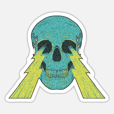 Black Power SKULL LIGHT - Sticker