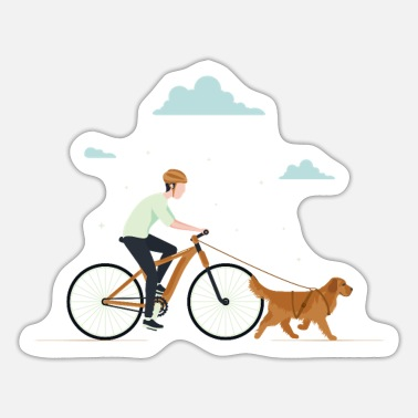 Cute Golden Retriever Golden Retriever Bike - Sticker
