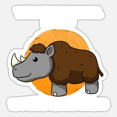 Ice Age Woolly Rhino Ice Age - Sticker