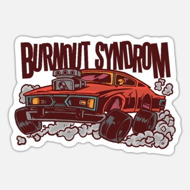 Car Tires Burnout Syndrome Car Tires Are Spinning - Sticker