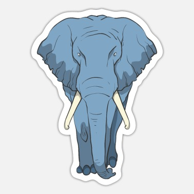 Tusk Elephantwith big tusks - Sticker