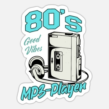 Mp3 MP3 Player Vintage Tape Cassette Player - Sticker