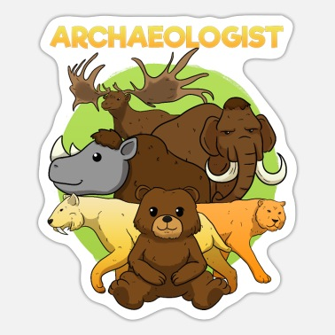 Ice Age Ice Age Animals Stone Age Mammoths - Sticker