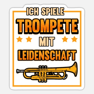 Marchingband Trumpet Music Trumpets Marchingband Gift - Sticker