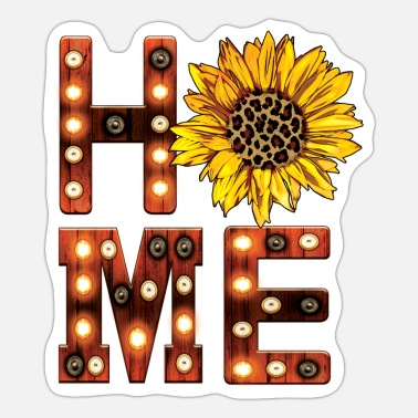 Marquee Wooden Marquee Letters Home Sign Sunflower - Sticker