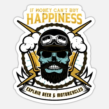 Motorcycle Motorcycles and Beer - Sticker