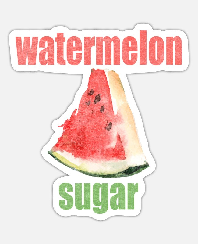 Slices Stickers - Watermelon Sugar - Sticker white matte