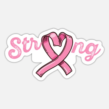 Cancer Strong Black Girl Pink Warrior Breast Cancer Aware - Sticker
