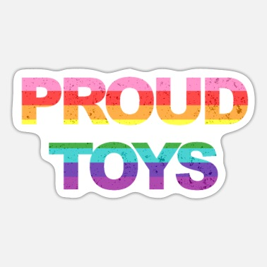 Proud Proud Toys - LGBTQ Rainbow Colours Lesbian Gay Vin - Sticker