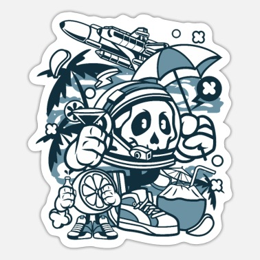 Astronaut Astronaut Holiday - Sticker