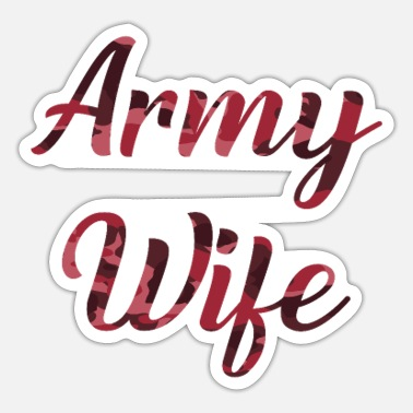 Army Wife Army Wife Red Camo - Sticker
