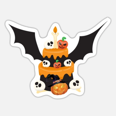 Halloween Bat Cake Scary Costume - Sticker