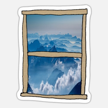 View Mountain Views - Sticker