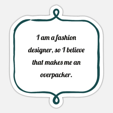 Fashion Lover amazing gifts for fashion designer - Sticker