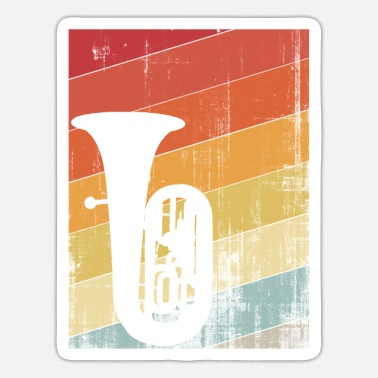 Instrument tuba instrument - Sticker