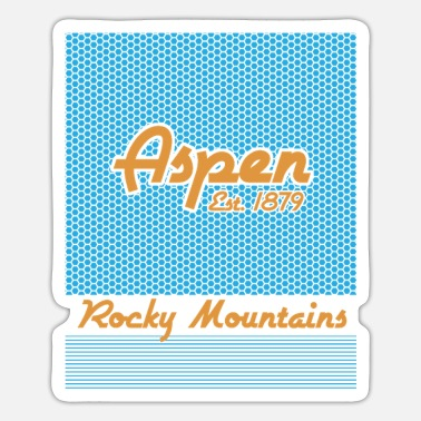 Rocky Mountains Aspen Rocky Mountains Modern - Sticker