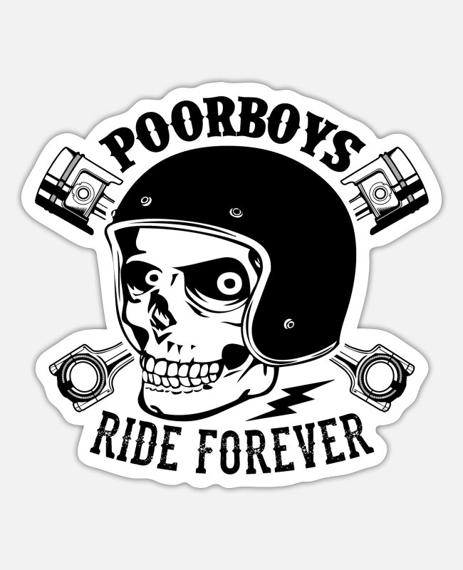 Pilot Stickers - Poor boys - Sticker white matte