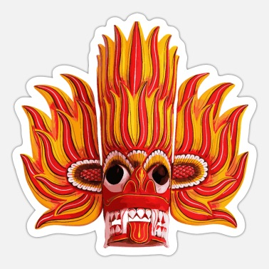 Sri Lankans Sri Lankan Scary Devil Mask - Sticker