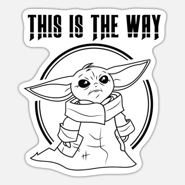 Baby Yoda This is the Way - Sticker
