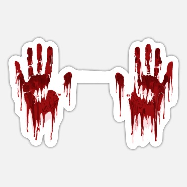 Bloody Bloody Handprints - Sticker