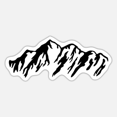 Mounteineering Mountain, Mountains - Sticker
