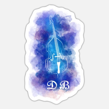 Doubles double bass - Sticker