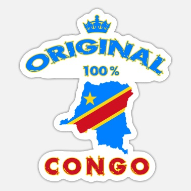 Likasi Congo Original 100% /Gift National Flag - Sticker