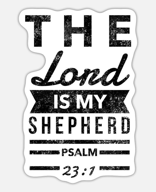 Church Stickers - Christian Clothes & Psalm 23 - Sticker white matte