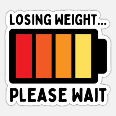 Losing Weight Please Wait, Funny Weight Loss vinta - Sticker