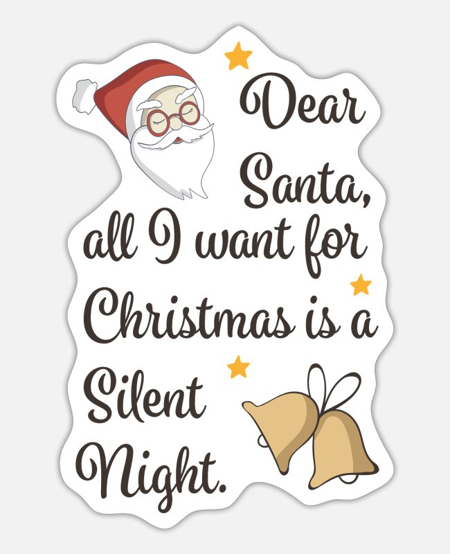 Silent Night Stickers - Baby Christmas - Sticker white matte