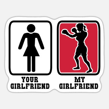 Punch Punching Girlfriend - Sticker