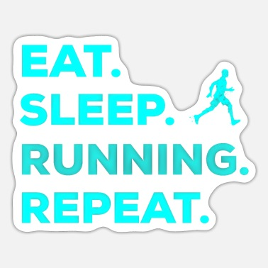 Cross Country Running jogging sport slogan gift exercise - Sticker