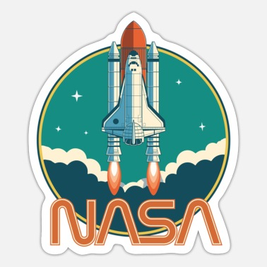 Space NASA Retro Space Shuttle Logo Essential T-Shirt - Sticker