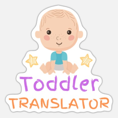 Toddler Toddler translator - Boy - Sticker