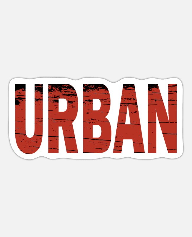 Red Stickers - urban explorer - Sticker white matte