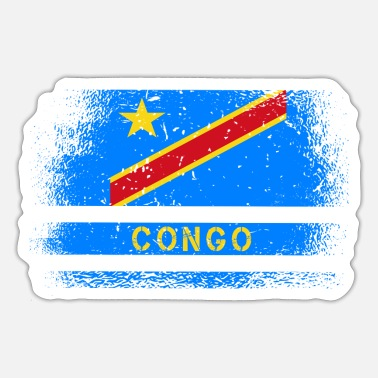 Likasi Congo Vintage Flag & Gift Idea - Sticker