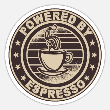 Coffee Funny coffee motif for espresso lovers gift idea - Sticker