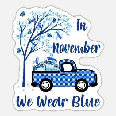 in november T-shirt cancer - Sticker