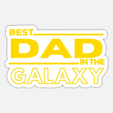 Star BEST DAD IN THE GALAXY Copie - Sticker