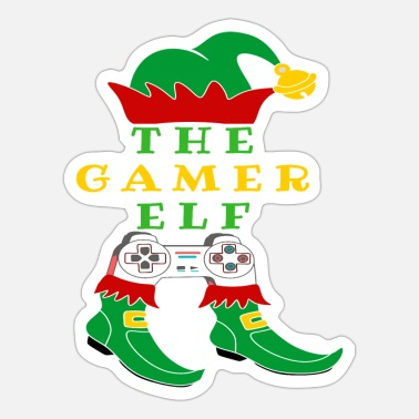 Gamer the gamer elf - Sticker