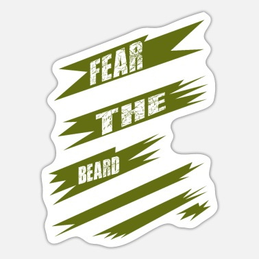 Playoff Beard funny quote playoff beards respect the beard - Sticker