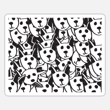 Chic A cute dog drawing chic chic Mask Designed - Sticker