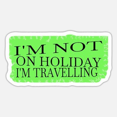 Travel Agency Clerk statement couples travel agency clerk dream travel - Sticker