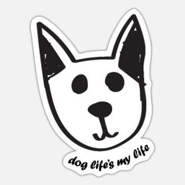 Chic A cute dog drawing chic chic ; dog life is my life - Sticker