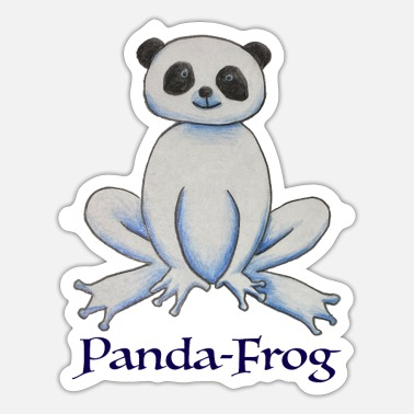 Panda Panda-Frog with writing - Sticker