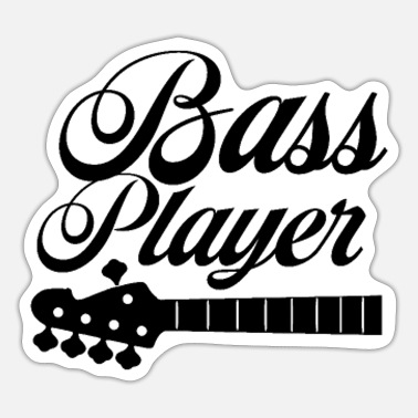 Bassist Bass Player Musician Bassists Bassist Instrument - Sticker