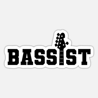 Bassist Bassist Instrument Musician Bass Player Bassists - Sticker