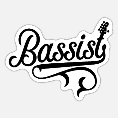 Bassist Bassist Bass Player Bassists Musician Instrument - Sticker