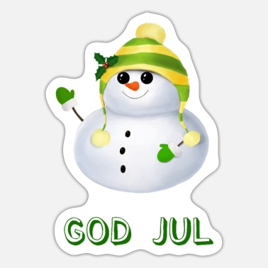 Gods Sweet little Snowman - God Jul - Sticker